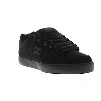 DC Pure Mens Black Nubuck Athletic Lace Up Skate Shoes