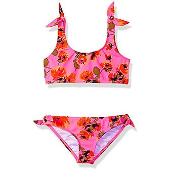 Billabong Girls' Girls' Bella Beach Tank Swim Set Tahiti, Tahiti Pink, Size 8