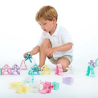 Dena Silicone Toy - 2 Piece Set Pastel Yellow