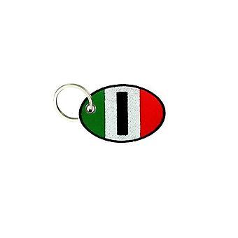 Porte Cle Cles Clef Brode Patch Ecusson Biker Morale Drapeau Italie Italien
