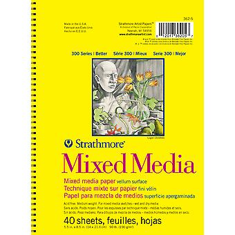 Strathmore Mixed Media Vellum Spiral Paper Pad 5.5