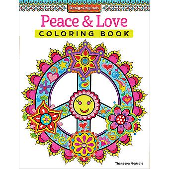 Design Originals-Peace & Love Coloring Book DO-5498