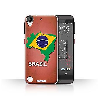 STUFF4 Case/Cover for HTC Desire 530/Brazil/Brazilian/Flag Nations