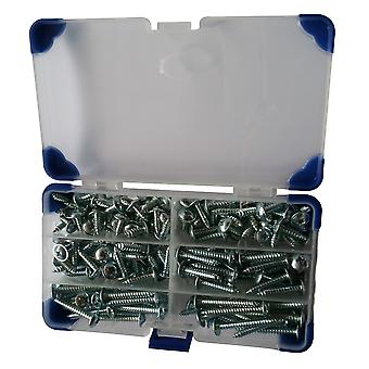 235 Piece No.8 (4.2mm) Zinc Plated Flanged Self Tapping Screws