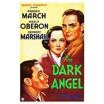 The Dark Angel From Lower Left Herbert Marshall Merle Oberon Fredric March On Poster Art 1935 Movie Poster Masterprint