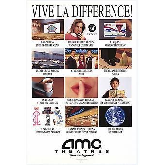AMC Theatres Vive La Difference Movie Poster Print (27 x 40)