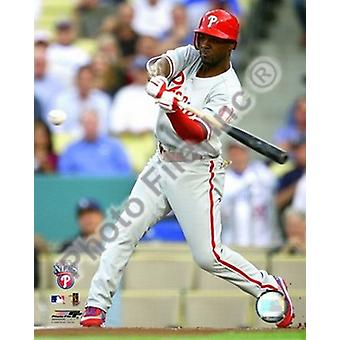 Jimmy Rollins 2008 Game 5 NLCS Home Run Sports Photo