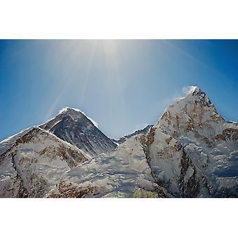 Mount Everest og Nuptse Khumbu Nepal PosterPrint