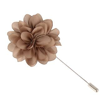 Snobbop revers-pin flower pin PIN pin brooch pin light brown brown