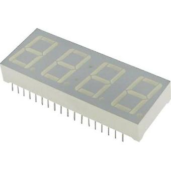 Seven-segment display Red (high efficiency red) 14 mm 2 V No. of digits: 4 Kingbright CA-56-11 SRWA