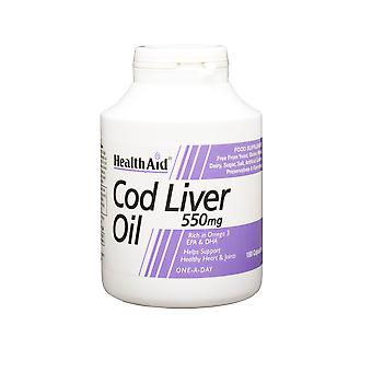 Health Aid Cod Liver Oil 550mg ,  180 Caps