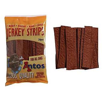 Antos Beef Jerky strimler 200g (pakke med 14)