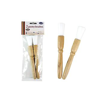 Pastry Brushes Pack of 2 Made With Natural Wood by Royle Home
