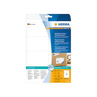 Labels white HERMA Movables 99, 1x67, 7, A4 200 pcs.
