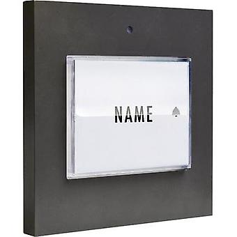 Bell button backlit, with nameplate Detached m-e modern-electronics 41050 Anthracite 8-24 V AC/DC/1 A