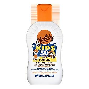 Malibu Water Resistant High Protection Children's Kids Sun Lotion 50 SPF 200ml