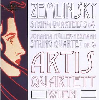 Zemlinsky/Hermann - Zemlinsky: String Quartets Nos. 3 & 4; Johanna M Ller-Hermann: String Quartet Op. 6 [CD] USA import