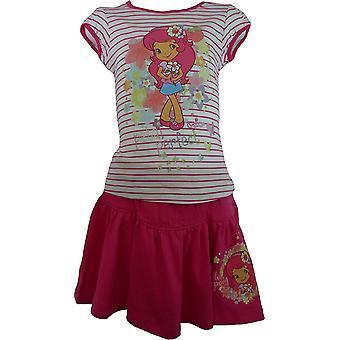 Girls CHARLOTTE aux FRAISES Strawberry Shortcake T-Shirt & Skirt Set