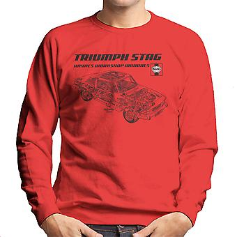 Haynes Workshop Manual 0441 Triumph Stag sorte mænds Sweatshirt
