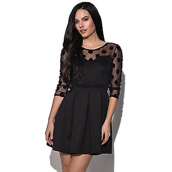 TFNC Juliet Mesh Long Sleeve Dress
