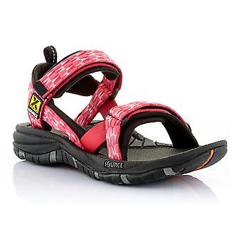 Kilde damer sandal røde Gobi trekanter - 102022TR
