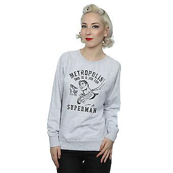 DC Comics Women's Superman X-Ray Sweatshirt