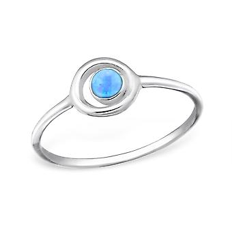 Circle - 925 Sterling Silver Jewelled Rings - W31417x