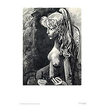 Sylvette АС Fauteuil плакат печати Пабло Пикассо (21 x 28)