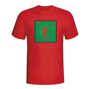 Eusebio Portogallo tavola periodica t-shirt (rosso)
