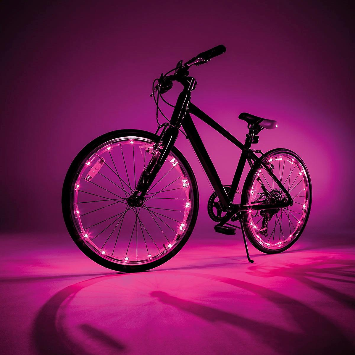 JML Wheely Bright LED luci bici - rosa