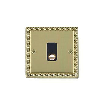 Hamilton Litestat Cheriton Georgian Polished Brass 20A Cable Outlet BL