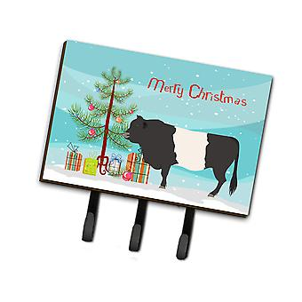 Belted Galloway Cow Christmas Leash or Key Holder