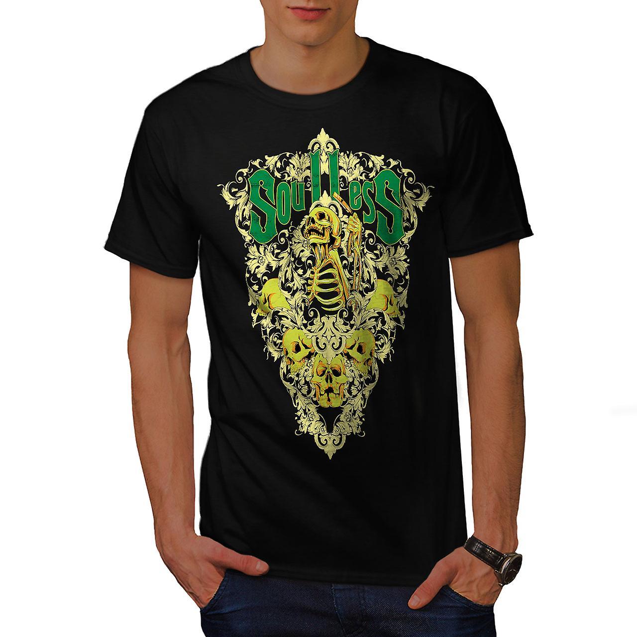 Soulless Zombie Skull Men Black T-shirt | Wellcoda