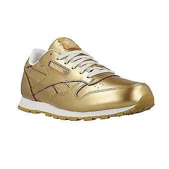 Reebok Classic Leather Metallic Brass BS8944 universal all year kids shoes