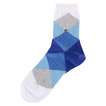 Burlington Bonnie Socken - Light Blue/dunkel blau/weiß
