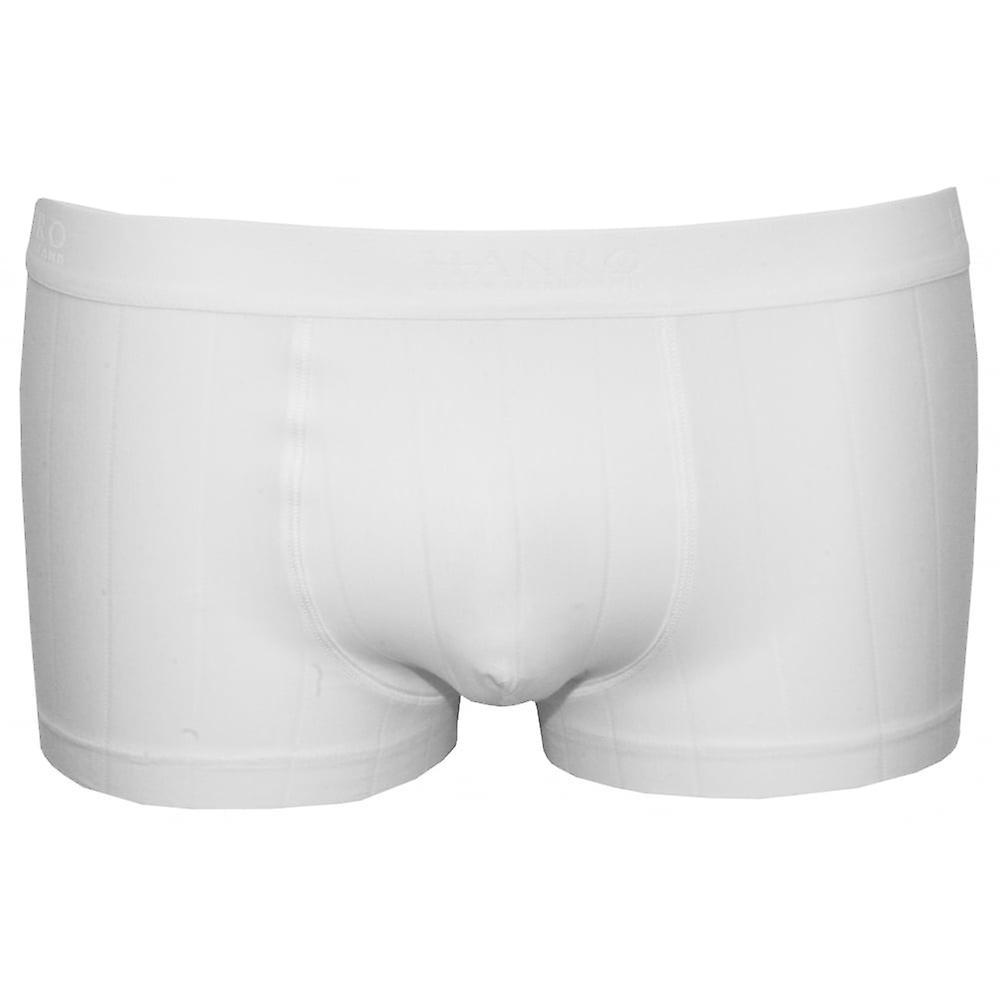 Hanro Shadow Fine Stripe Boxer Trunk, White