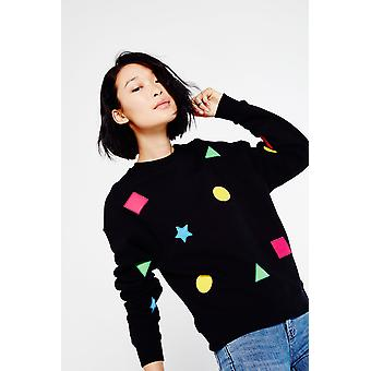 Hit The Road Jacques Crew Neck Sweater With Shape Motif