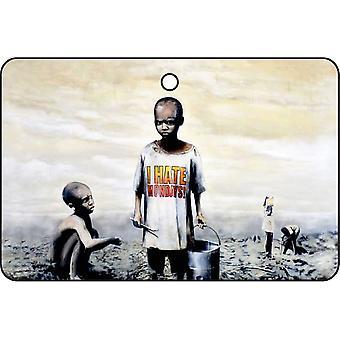 Banksy I Hate Mondays Car Air Freshener