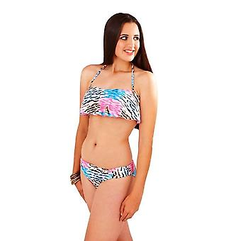 Boutique Ladies Zebra Tropical Halterneck Bikini Set