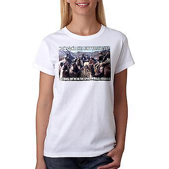 Unge kanoner ånd verden kvinders hvid T-shirt