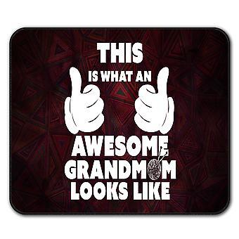 Impresionante Grandmom divertido ratón antideslizante alfombra Pad 24 cm x 20 cm | Wellcoda