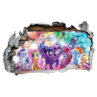 GNG My Little Pony The Movie Vinyl Smashed Wall Art Decal Stickers Bedroom Boys Girls 3D L