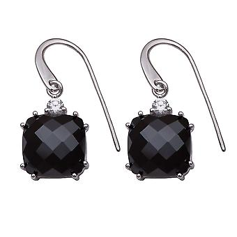 Orphelia Silver 925 Drop Earring Zirconium Black  ZO-5893