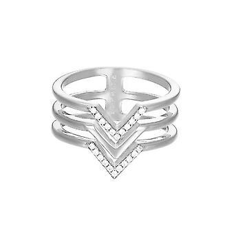 Esprit Damen Ring Edelstahl Silber JW52894 Zirkonia ESRG02611A1