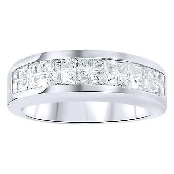 Sterling 925er Silber Ring - Invisible Zirkonia Channel Set
