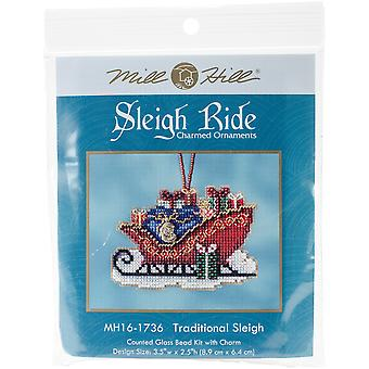 Traditional Sleigh Counted Cross Stitch Kit-3.5