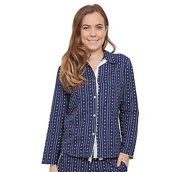 Cyberjammies 3846 Women's Zoe Navy Blue Heart Print Pajama Pyjama Top