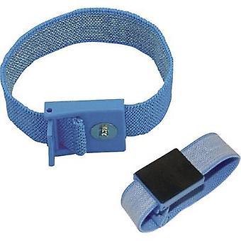 ESD wrist strap Light blue BJZ C-198 1261 4 mm stud and socket