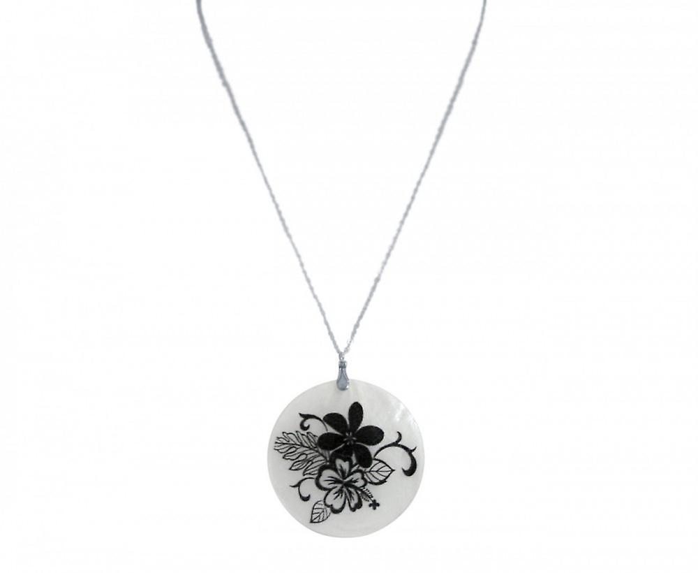 Halskette - Anhänger – Medaillon - bleuHommesbouquet - 925 argent - noir - 5 cm