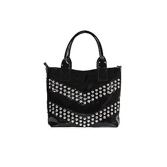 PINKO BLACK PATENT PRESANELLA SMALL SHOPPER